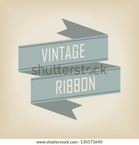 vintage ribbon banner - stock vector