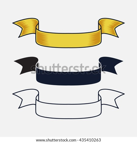 vintage ribbon vector design