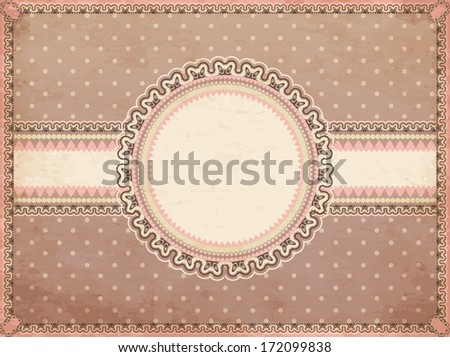 Vintage romantic background, vector illustration