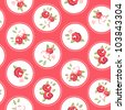 Vintage rose pattern. Seamless vector. Retro rose wallpaper - stock photo