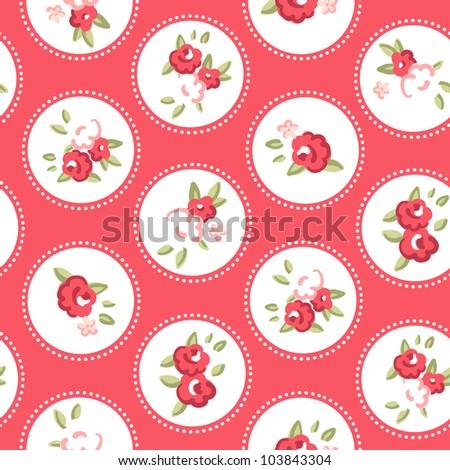 Vintage rose pattern. Seamless vector. Retro rose wallpaper - stock vector