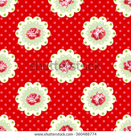 Vintage rose pattern. Shabby chic style - stock vector