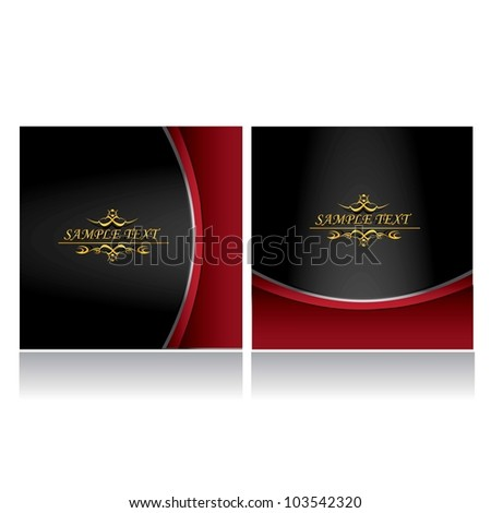 vintage royal gold background set. vector illustration. - stock vector