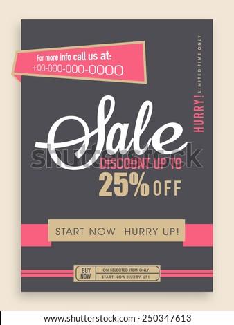 Vintage Sale Flyer Banner Template Design Stock Vector 250347613 ...