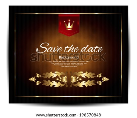 Vintage, save the date - stock vector