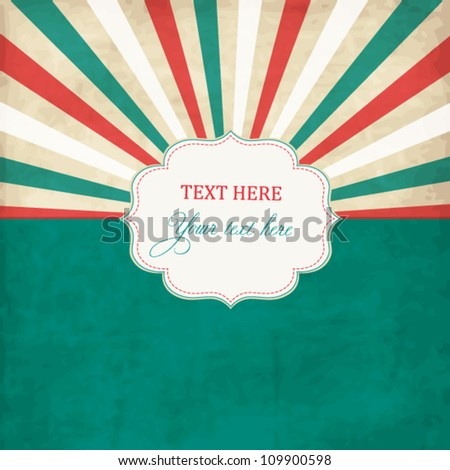 Vintage scrap template with frame - stock vector