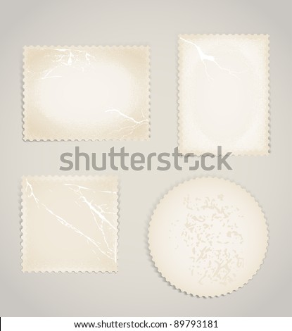 Vintage scratched post stamps template clip-art