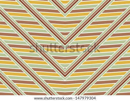 Vintage seamless diagonal strokes in yellow, green and red. - stock vector