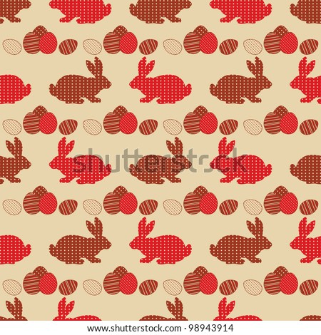 Vintage seamless Easter vector background. - stock vector