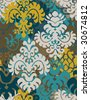 Vintage seamless ornamental - wallpaper - stock vector