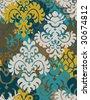 Vintage seamless ornamental - wallpaper - stock vector