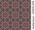 Vintage seamless ornate pattern background vector illustration - stock vector