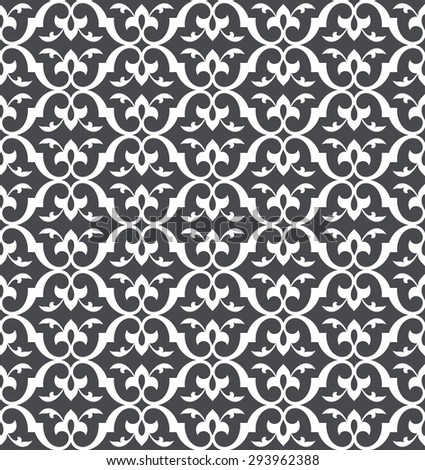Vintage seamless pattern.  Abstract decorative lattice in the Moroccan style. Stylish Vector illustration in Arabic style.