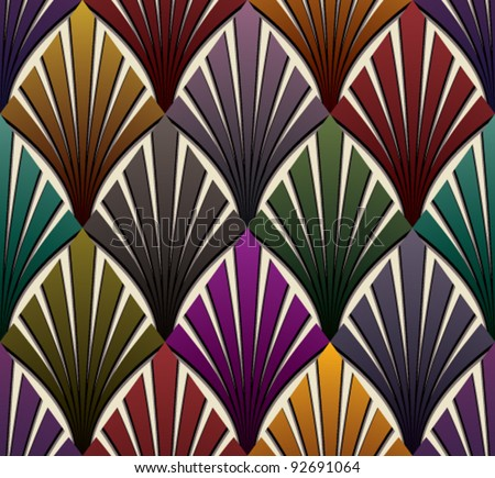 Vintage seamless pattern, classic style geometric colorful vector background. - stock vector