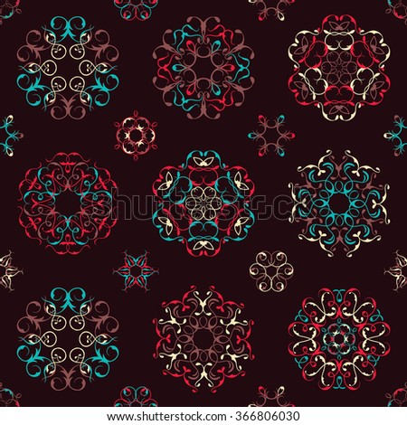 Vintage seamless pattern in bright colors. Modern design for textures, textile
