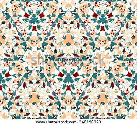 Vintage seamless pattern. Seamless pattern composed of color abstract elements located on white background. Useful as design element for texture, pattern and artistic compositions. - stock vector