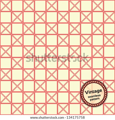 Vintage seamless pattern. Universal: Background, Pattern, Texture. Vector illustration EPS10