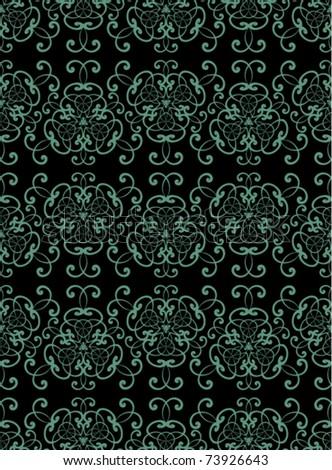 Vintage seamless pattern.  Vector illustration 1 - stock vector