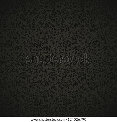 Vintage seamless pattern with floral elements - stock vector