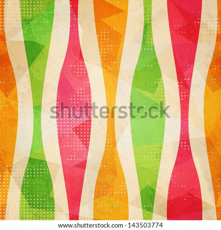 vintage seamless pattern with grunge effect - stock vector