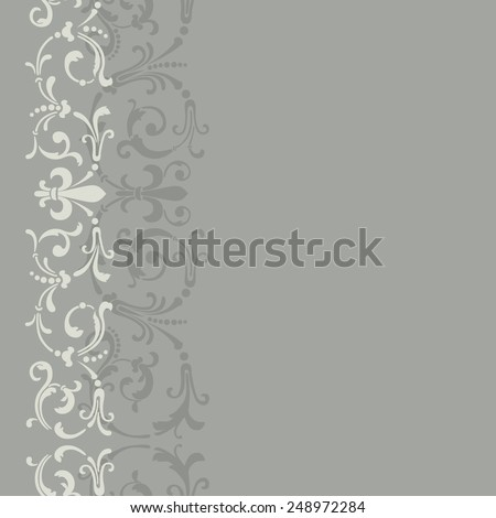 Vintage seamless pattern with retro ornament - stock vector