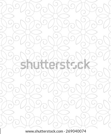 Vintage seamless pattern with scrolls and curls. Abstract floral ornament. - stock vector