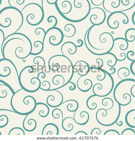 vintage seamless pattern with spiral elements - stock vector