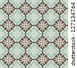vintage seamless pattern with Victorian motif - stock photo