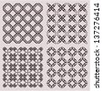 Vintage seamless tile patterns - stock