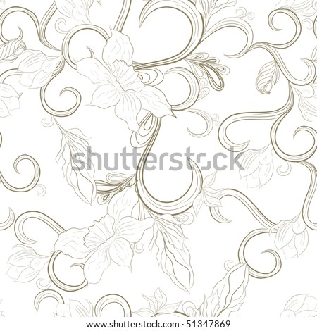 Vintage seamless wallpaper - stock vector