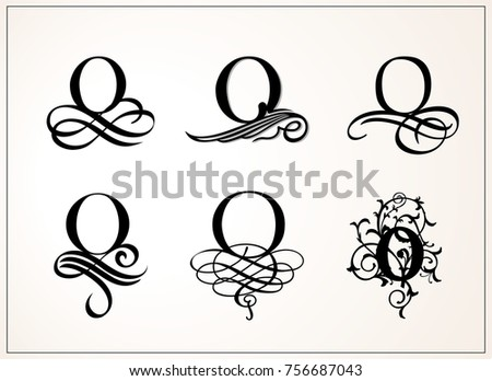 Capital Letter O For Monograms And Logos Beautiful Filigree Font Victorian