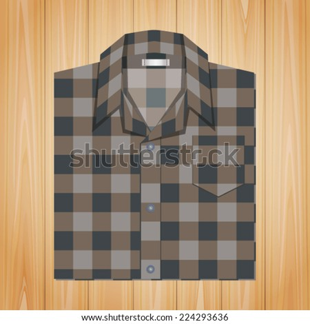 Vintage Shirt On Wooden Texture Background
