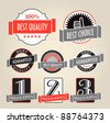 Vintage shopping labels - stock vector