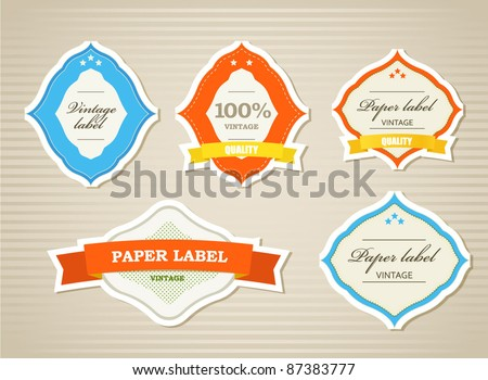 Vintage shopping labels and logo collection - stock vector