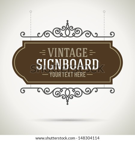 Vintage Signboard Stock Images Royalty Free Images