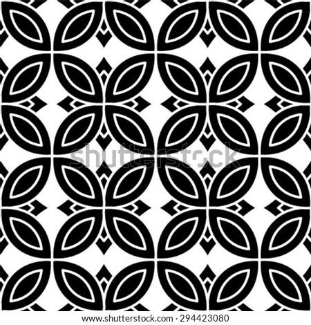 Vintage single color seamless tiles, vector seamless pattern. - stock vector