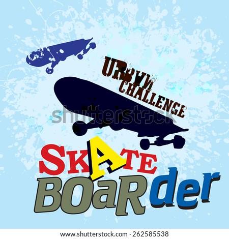 vintage Skateboard label ( T-Shirt Print )  - stock vector