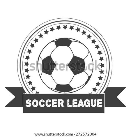 vintage  soccer emblem. Illustration of soccer label. Soccer Football Typography Badge Design Element. Soccer league vector  - stock vector