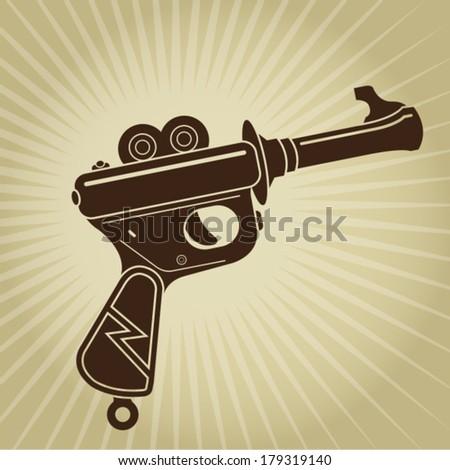 Vintage Space Gun Illustration - stock vector