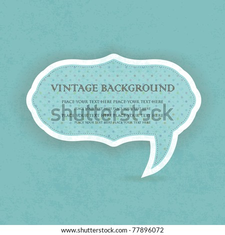 Vintage speech bubble frame design