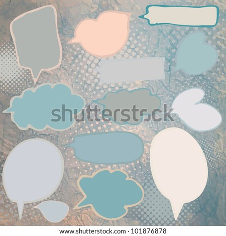 Vintage speech bubbles set. And also includes EPS 8 vector - stock vector