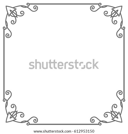 Vintage Square Shape Frame Isolated On Stock Vector 612953150 ...
