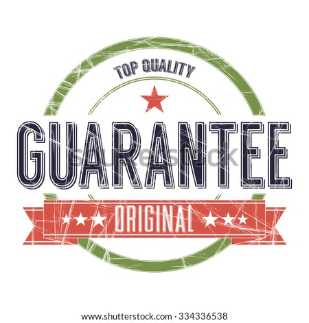 Vintage Stamp with grunge Guarantee sign