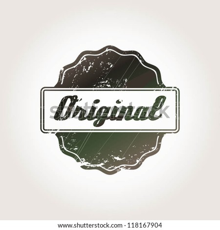 vintage stamp with the word original for label and certificates for Guarantee/ Original Stamp - stock vector