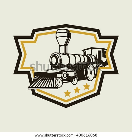 Vintage Steam Locomotive Logo