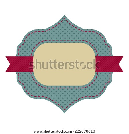 Vintage sticker. Retro style. - stock vector