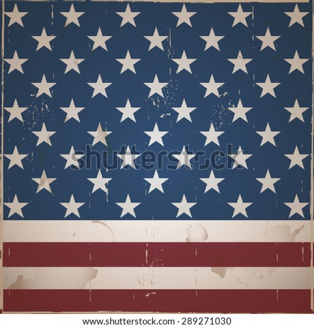 Vintage stripes and stars background - stock vector
