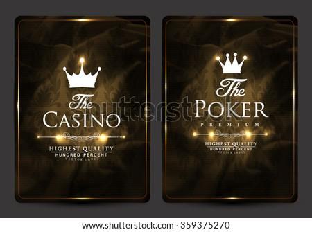 Vintage stye casino card collection-poker-ace-vip card - stock vector