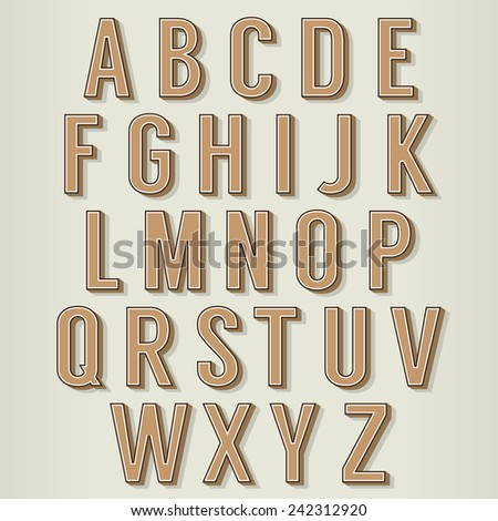 Vintage Style Alphabets Set Vector Illustration