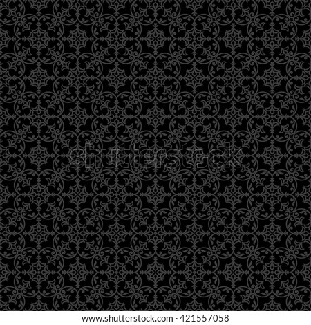 Vintage style arabic and islamic black background, fabric and wrapping for design